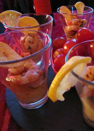 recette Verrine crevettes et mangue