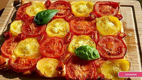 recette Tarte à la tomate tout simplement. .