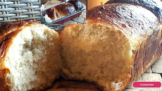 recette Brioche moelleuse sans beurre,sans huile, sans oeufs !!!