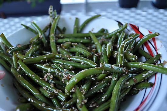 recette Haricots vert au sésame