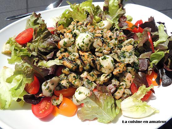 recette Salade de fruits de mer à l'ail et persil
