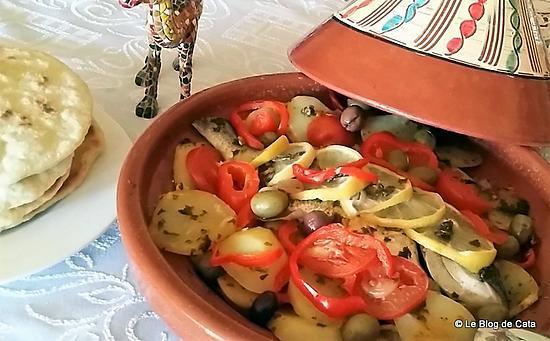 recette Tajine de daurade à la chermoula