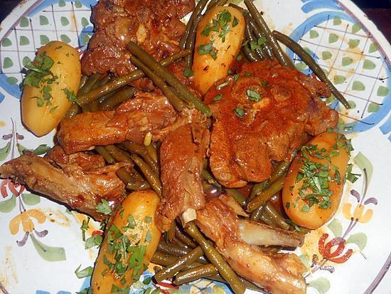 recette Cocotte d agneau aux haricots vert et pommes de terre