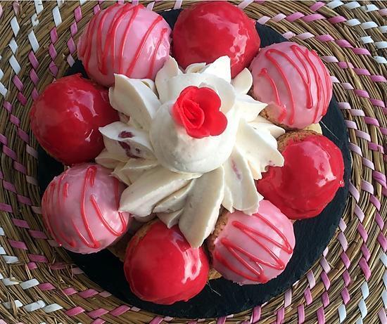 recette Saint-Honoré à la fraise