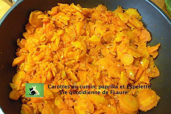 recette Carottes au cumin, paprika et Espelette