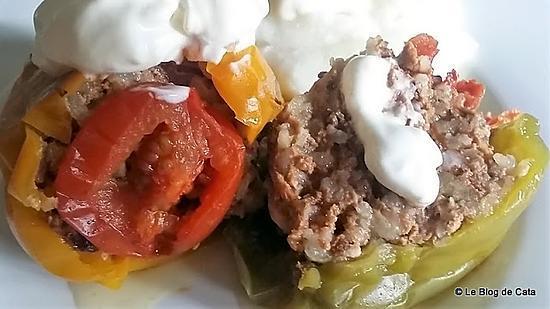 recette Poivrons farcis à la cocotte (Polneti piperki -  Macédoine)