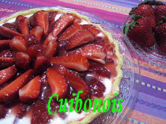 recette Tarte aux fraise.