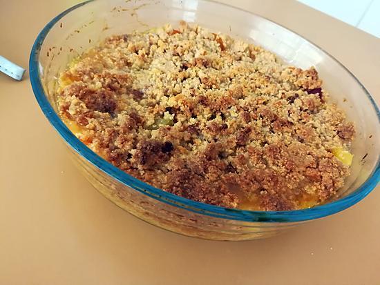 recette Crumble abricots brugnons au petits beurres