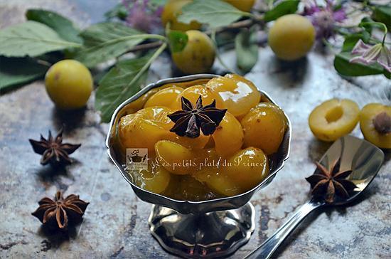 recette Compotée de mirabelles au miel et aux épices