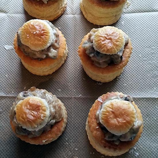 recette Bouchée a la reine poulet champignon