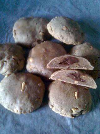 recette cookies Bio au beurre de cacahuètes fourrés chocolat