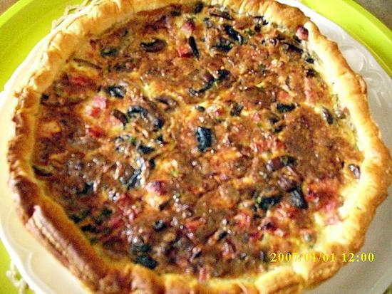 recette Tarte soufflée aux rosés des prés