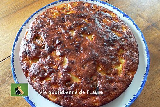 recette Gâteau au yaourt pomme, Cranberry et noix de Pécan