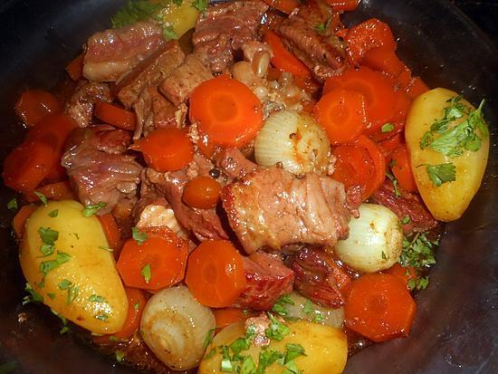 recette Tendrons de veau aux carottes des sables mijotés en cocotte
