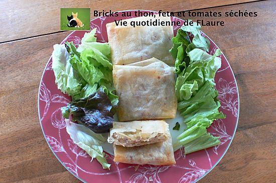 recette Bricks au thon, feta et tomates séchées