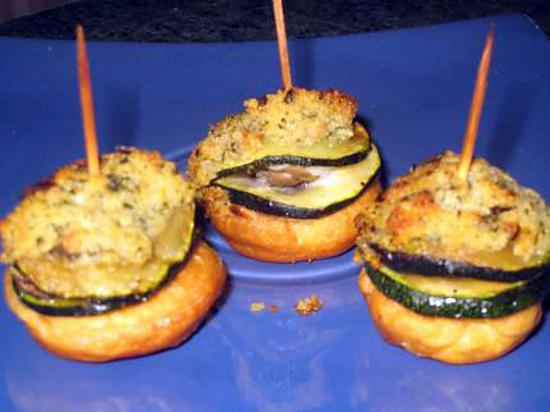 recette crumble d escargot-courgettes à la crème d ail