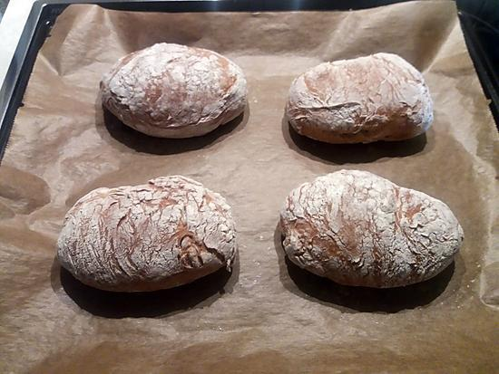 recette Petits pains sans pétrissage