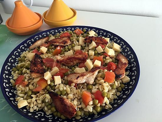 recette Salade de blé et au poulet