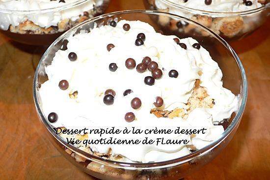 recette Dessert rapide à la crème dessert