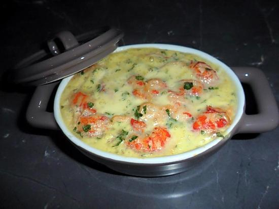 recette Cassolette aux deux poissons
