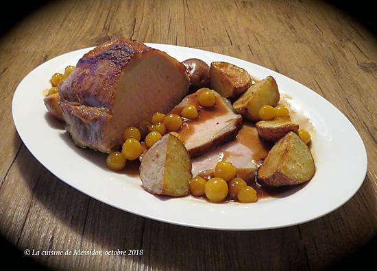 recette Rôti de porc aux cerises de terre (physalis)