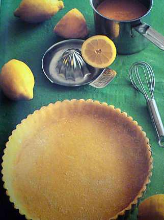 recette Tarte au citron