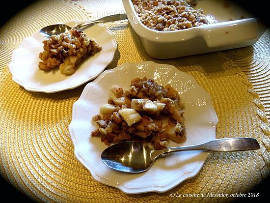 recette Croustade aux pommes vite prête