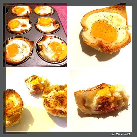 recette Croque revisité (Muffins Croque Monsieur)