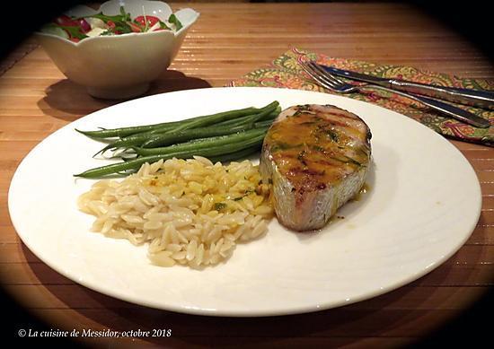 recette Darnes de saumon grillées au four