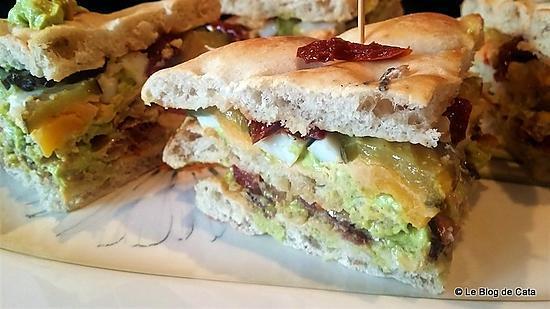 recette Club sandwich avocat, chèvre et sardines