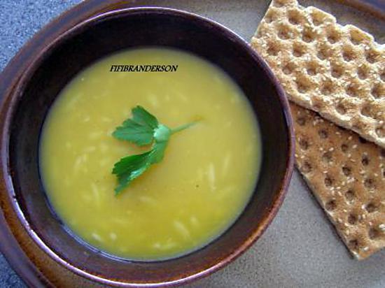 recette soupe de potiron et pates