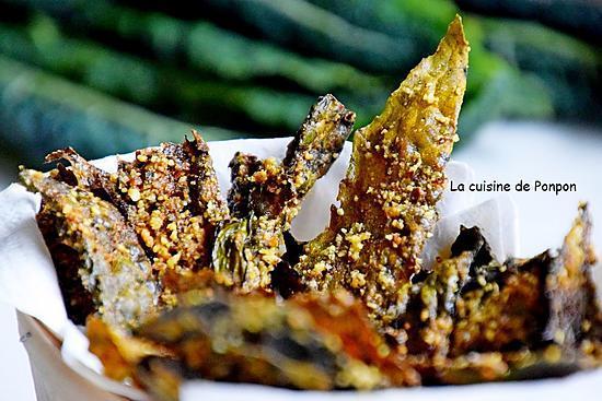recette Chips de chou kale aux épices indiennes