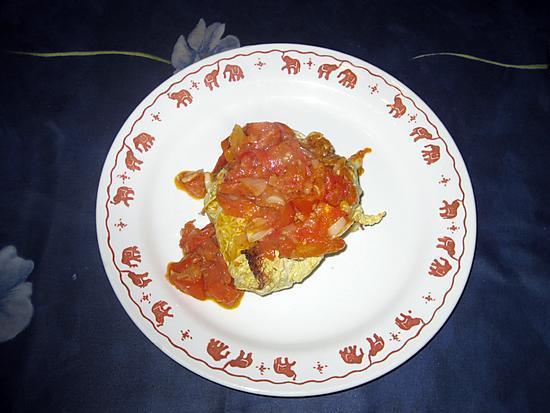 recette Chou farci au coulis de tomates