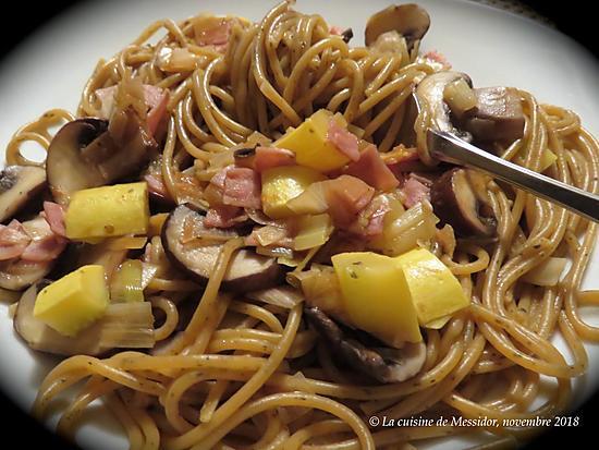recette Spaghetti à l'italienne, version minute