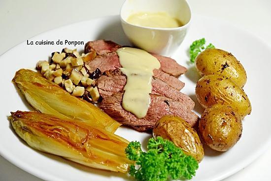 recette de magret de canard garni de sauce au foie gras. Black Bedroom Furniture Sets. Home Design Ideas