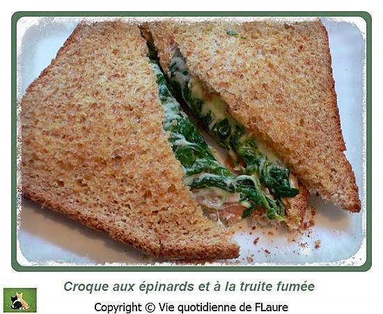 recette Croques aux épinards et à la truite fumée