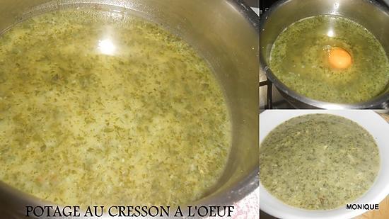 """recette POTAGE AU CRESSON A L""""OEUF"""