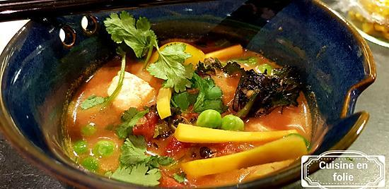 recette Soupe au tofu et pâte de curry à ma façon