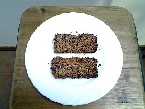recette Barre petit déjeuner avec flocons d'avoine et noix de coco