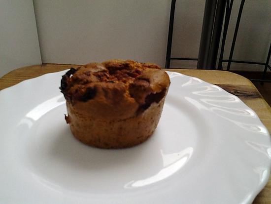 recette Muffins  aux fraises avec des graines de lin.  Recette pour 10 muffins
