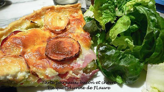 recette Tarte poireaux, bacon et chèvre