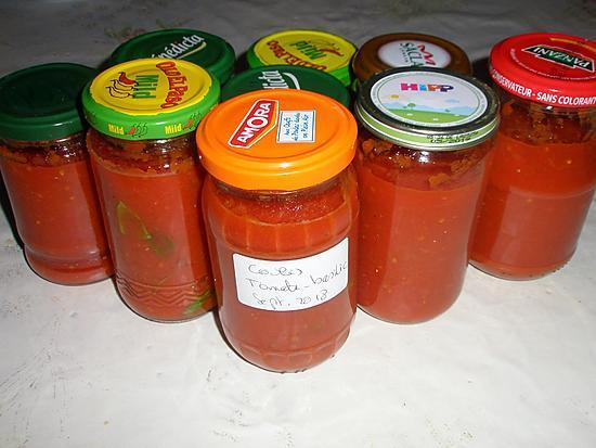 recette Mon coulis de tomates au basilic