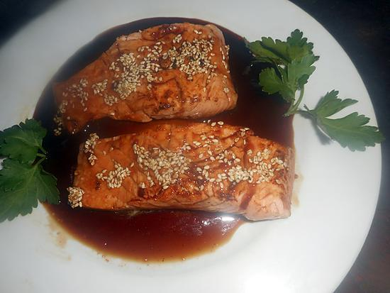 recette Pavé de saumon sauce tériyaki