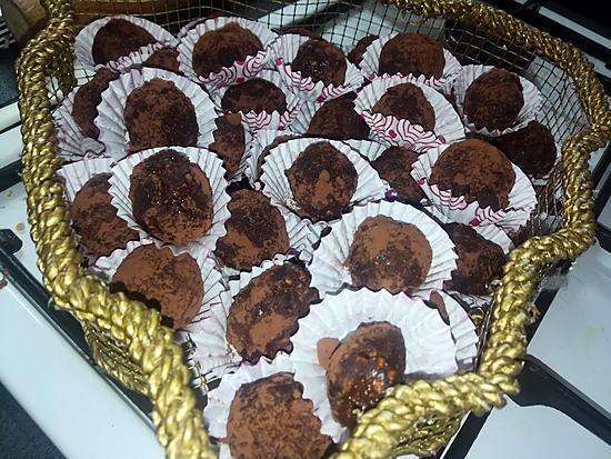 recette Truffes au chocolat pralin orange