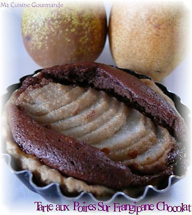 Recette de tarte aux poires frangipane chocolat - Recette tarte aux chocolat ...