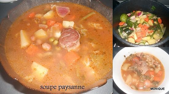 recette SOUPE PAYSANNE AU TALON DE JAMBON DE PARME