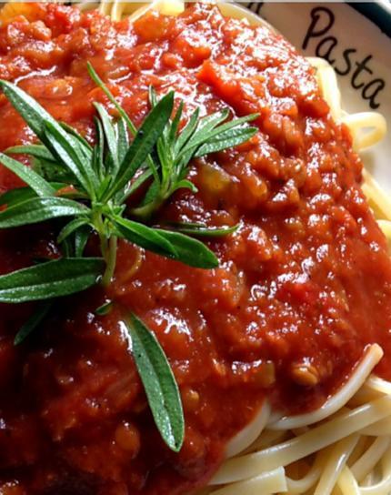 recette Sauce à spaghetti au lentille corail au poêlon