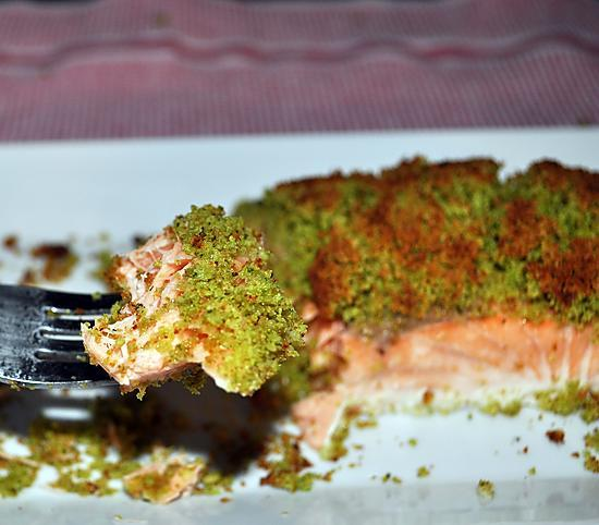 recette Saumon au four en croûte Gremolata