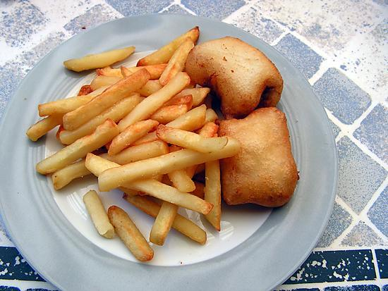 recette Fish and chips (poissons en beignet frites)
