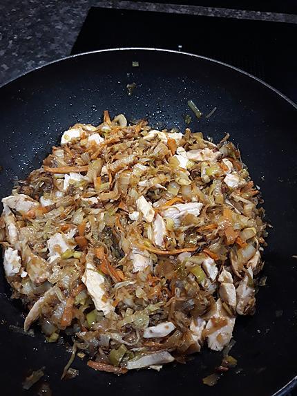 recette Nouilles chinoise au poulet